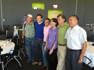 From left: Peter Ash, Alexandre Meire, Dr. Norman Arancon, Rhonda Sherman, Tom Herlihy, Dr. Sun Zhenjun