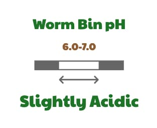 Worm bin pH