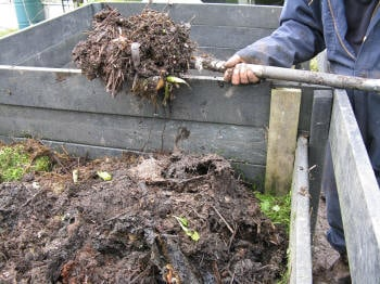 Turning a Compost Pile