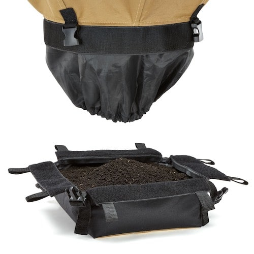 Urban Worm Bag harvested with bottom detached